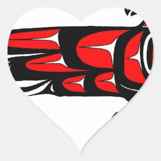 MOHAWK EAGLE HEART STICKER