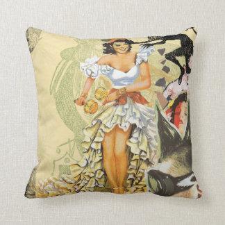 Mohawk Fiesta Collage Throw Pillow