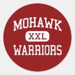 Mohawk - guerreros - High School secundaria - Pegatinas Redondas