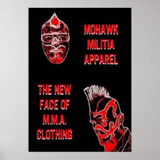 MOHAWK MILITIA wall poster