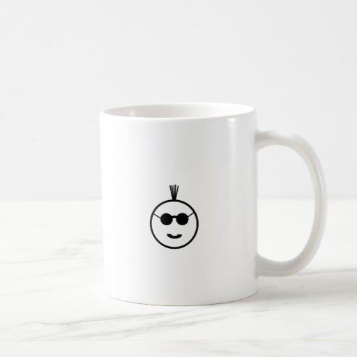 Mohawk negro taza básica blanca