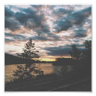 Mohawk River Valley en la puesta del sol Fotografía