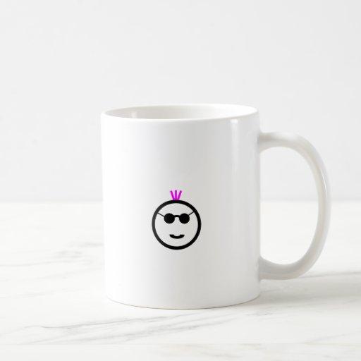 Mohawk rosado tazas de café