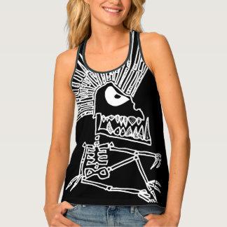 Mohawk Skeleton Shirt: Awesome Tank Top