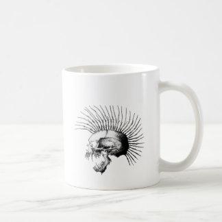 Mohawk Skull Classic White Coffee Mug