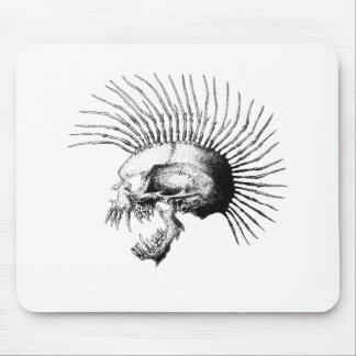 Mohawk Skull Mouse Pad