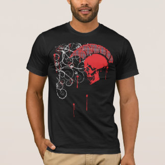 mohawk skull plaid T-Shirt