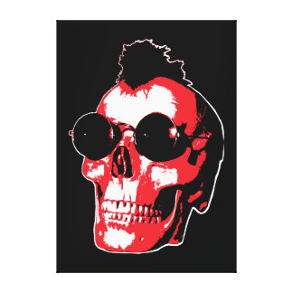 Mohawk Skull - Rock'n'Roll Canvas Print