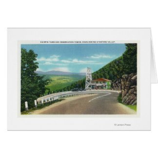 Mohawk Trail Hairpin Turn & Observation Tower Card