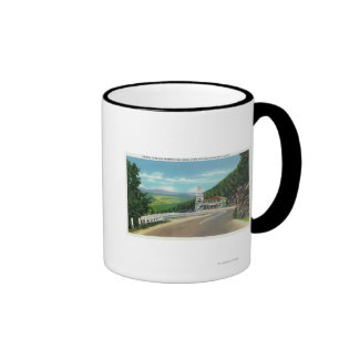 Mohawk Trail Hairpin Turn & Observation Tower Ringer Coffee Mug