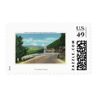 Mohawk Trail Hairpin Turn & Observation Tower Stamp