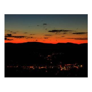 Mohawk Trail Hairpin Turn Twilight Post Card