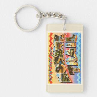 Mohawk Trail Massachusetts MA Old Travel Souvenir Keychain