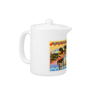 Mohawk Trail Massachusetts MA Old Travel Souvenir Teapot