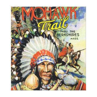 Mohawk Trail, View of Mohawk Indians Canvas Prints