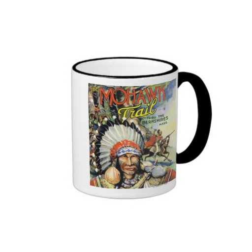 Mohawk Trail, View of Mohawk Indians Coffee Mugs