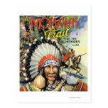 Mohawk Trail, View of Mohawk Indians Post Card