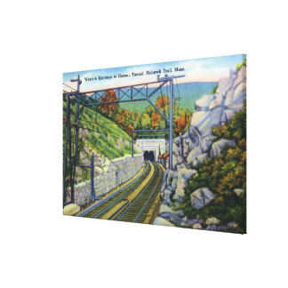 Mohawk Trail View of W. Entrance to Hoosac Canvas Prints