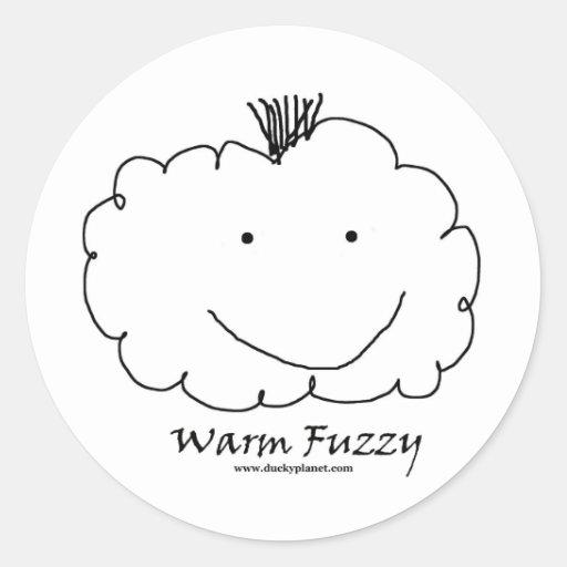 Mohawk Warm Fuzzy Round Sticker