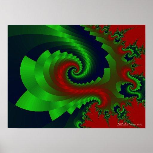Mohawks verdes póster