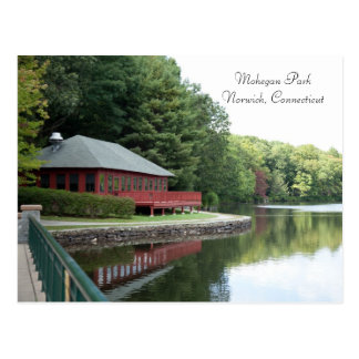 Mohegan Park, Norwich, CT - Postcard