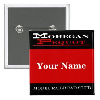 Mohegan Pequot Name Tag 2 Inch Square Button
