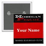 Mohegan Pequot Name Tag Pinback Button