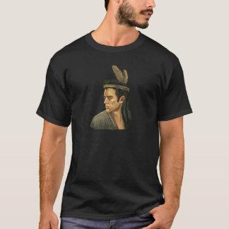 Mohican Warrior Portrait Basic Dark T-Shirt