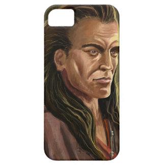 Mohican Warrior portrait iPhone 5 Cases