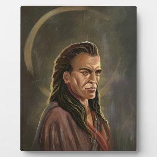 Mohican Warrior Portrait painting Plaque