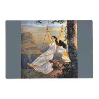 MOHINI ON A SWING laminated placemat