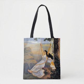 MOHINI ON A SWING print tote bag