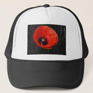 Mohnblume red poppy Photo Foto Trucker Hat