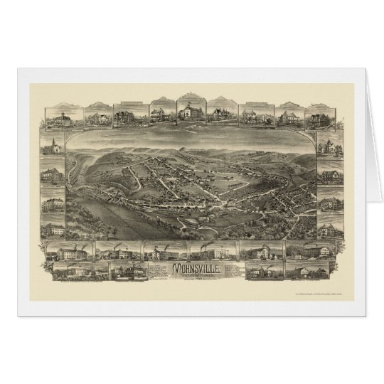 Mohnsville, PA Panoramic Map - 1898 Card