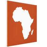 Moho África audaz roja Impresiones En Lona