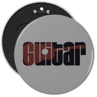 Moho de la guitarra acústica pin redondo de 6 pulgadas