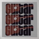 Moho de la guitarra acústica posters