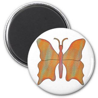 Moho de la mariposa imán redondo 5 cm