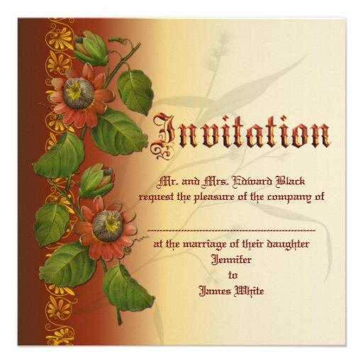 Moho del boda del Passionflower Comunicados Personalizados