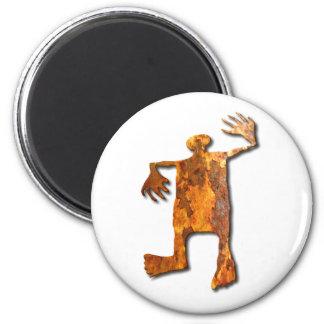 Moho del hombre del baile imán redondo 5 cm