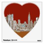 Moho del rojo del horizonte de Nueva York