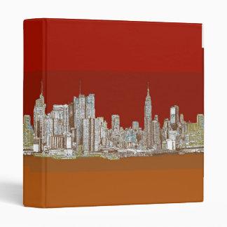 "Moho del rojo del horizonte de Nueva York Carpeta 1"""