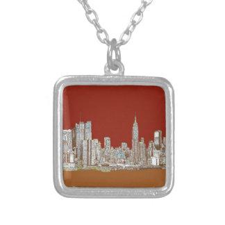 Moho del rojo del horizonte de Nueva York Pendiente