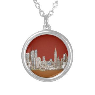 Moho del rojo del horizonte de Nueva York Colgante
