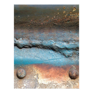 Moho del vintage en el metal plantilla de membrete