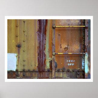 Moho industrial: Evite la impresión de la fotograf Poster