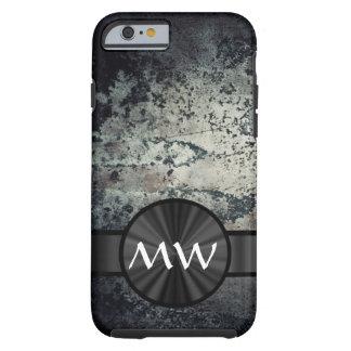 Moho metálico blanco y negro funda de iPhone 6 tough