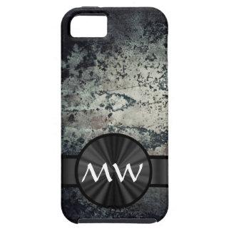 Moho metálico blanco y negro iPhone 5 fundas