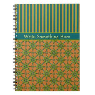 Moho tribal rayado, verde, trullo: Cuaderno espira