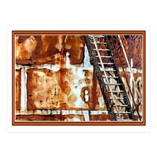 Moho y escaleras postales